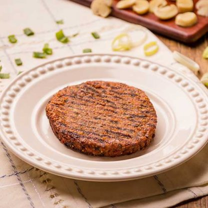 Hambúrguer de quinoa com cogumelos