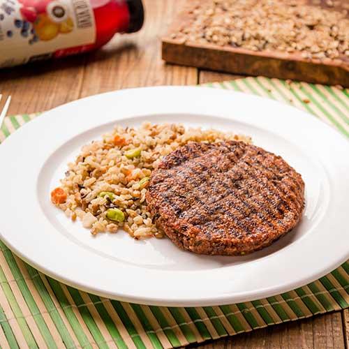 46 - Hambúrguer de quinoa + arroz 7 cereais