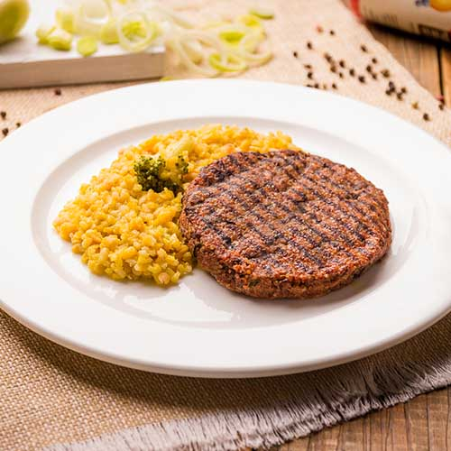 13 – Hambúrguer de quinoa + risotto de abóbora