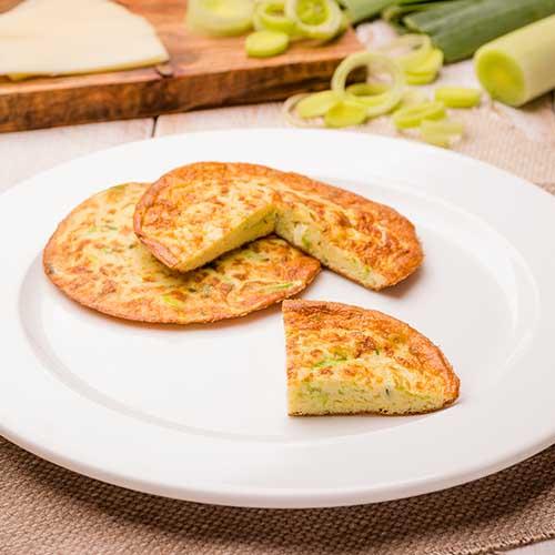 Pancake low carb alho poró