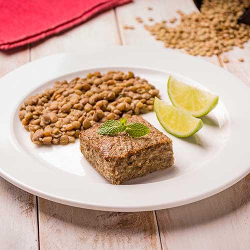 45 – Kibe assado + lentilha
