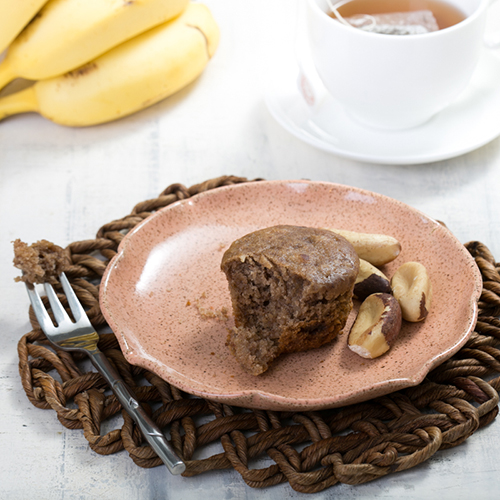 Muffin de banana com castanha do pará 149 Kcal