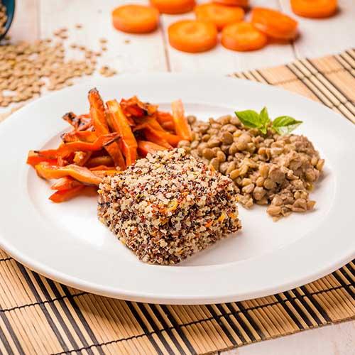 55 – Mix de quinoa + lentilha + cenoura