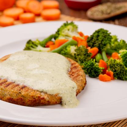3 – Hambúrguer de Frango + Mix de Legumes + Molho de Ervas (low carb)