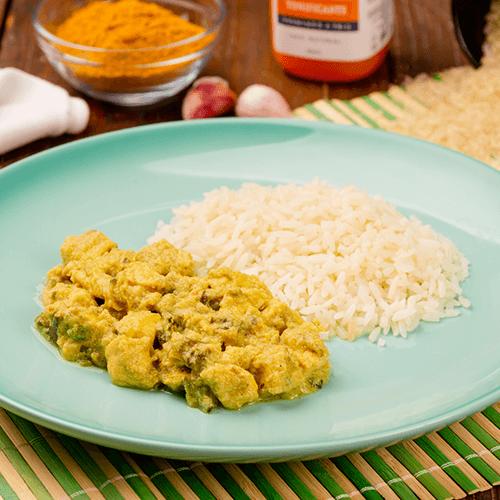 14 – Frango ao Curry + Arroz Branco