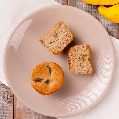 Muffin de banana e canela
