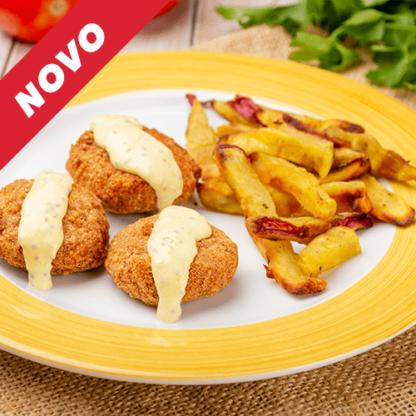 9 – Super Nuggets + Batata Doce Rústica + Molho Mostarda