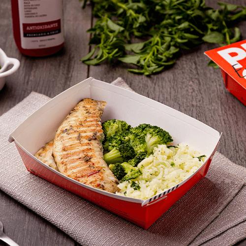 Express – St Petter ervas + arroz de couve flor + brócolis – Low Carb