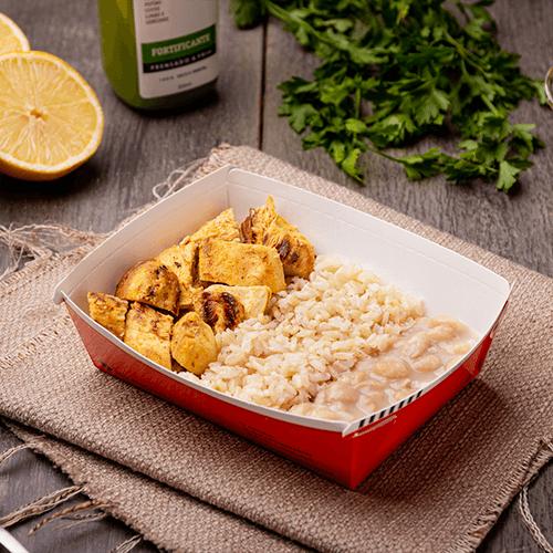 Express – Frango siciliano + arroz integral + feijão carioca