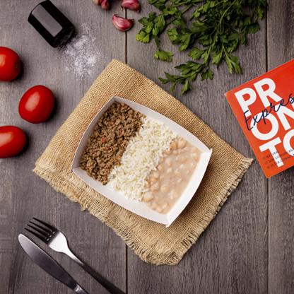 Express – Carne moída + arroz branco + feijão carioca