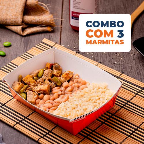 Combo Express 3 uni - Tofu grelhado com moyashi + arroz integral + feijão carioca