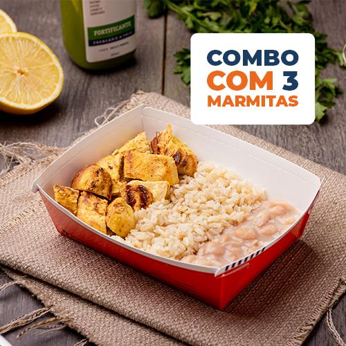 Combo Express 3 uni - Frango siciliano + arroz integral + feijão carioca