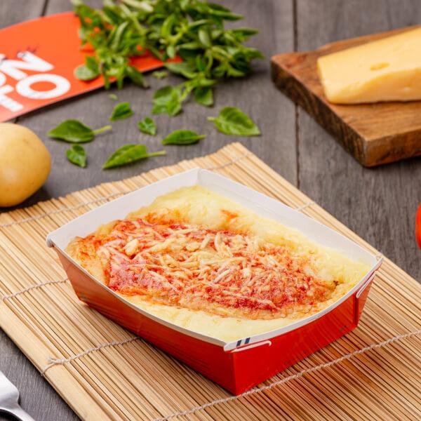 Express – Frango à parmegiana + purê de batata