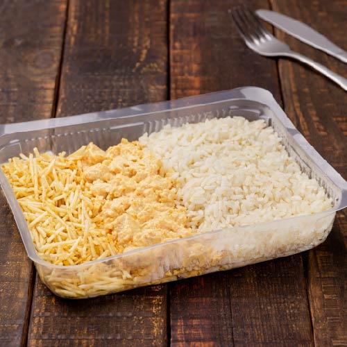 Nosso PF- Prato 6- Strogonoff de frango +Arroz branco + Batata palha
