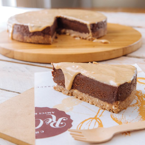 Torta de Chocolate com Caramelo e Flor de Sal